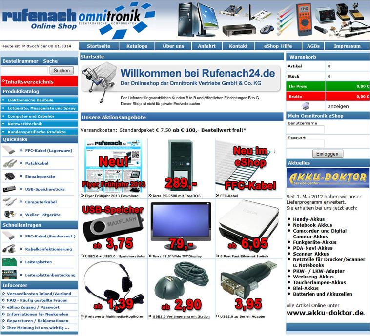 rufenach omnitronik online shop system referenz