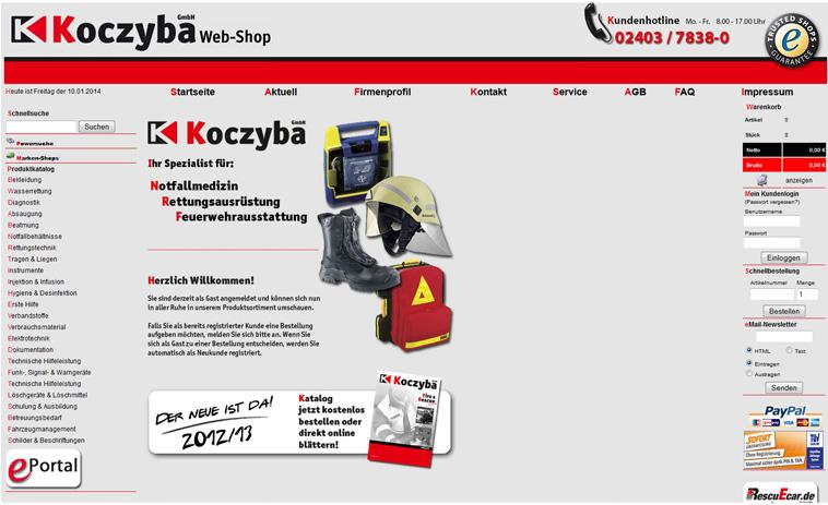 Koczyba online shop system referenz