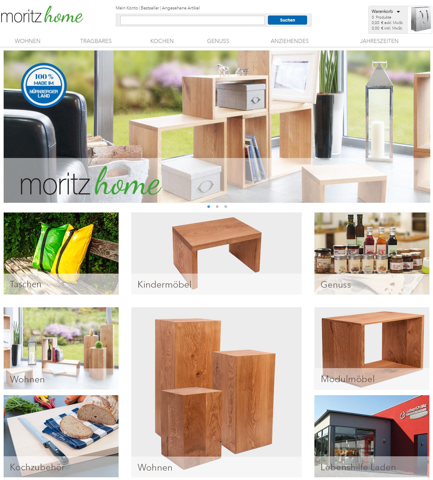Moritz home referenz online shop