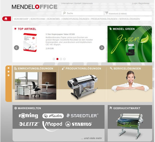 Mendel office referenz online shop